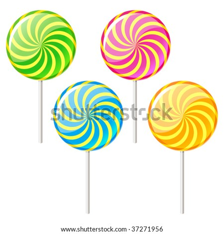 vector illustration of sugar candy - stock vector
