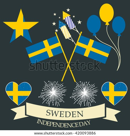 Vector illustration of sweden independence day.