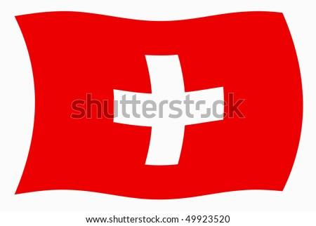 Vector Illustration of Switzerland flag - stock vector