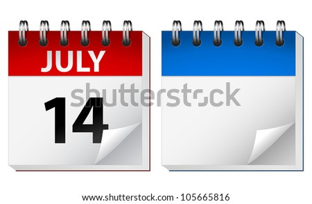 Vector illustration of table calendar - stock vector