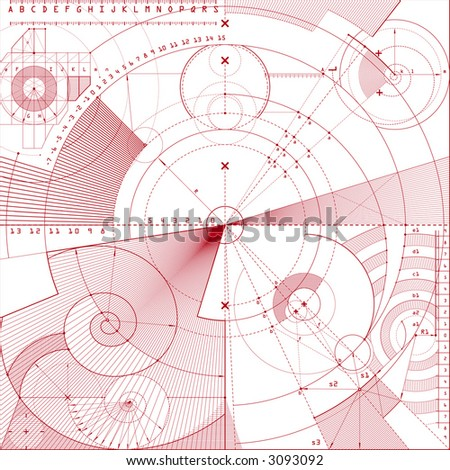 vector illustration of technical draft background - stock vector