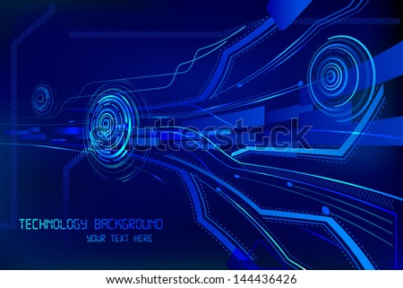 vector illustration of technology background - stock vector