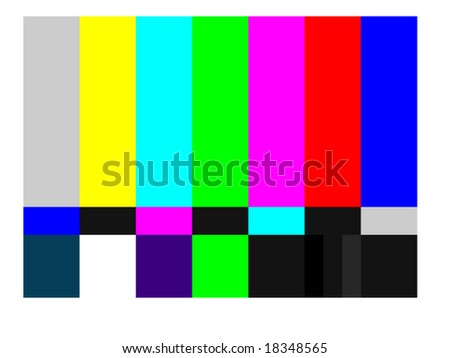 vector illustration of television color bars - stock vector