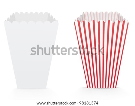 Popcorn box stock images royalty free images vectors for Popcorn container template