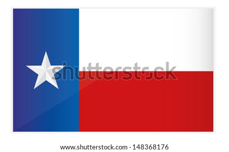 Vector Illustration of Texas State Flag,EPS10. - stock vector