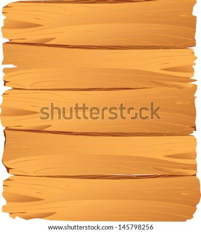 vector illustration of textured wooden plank - stock vector