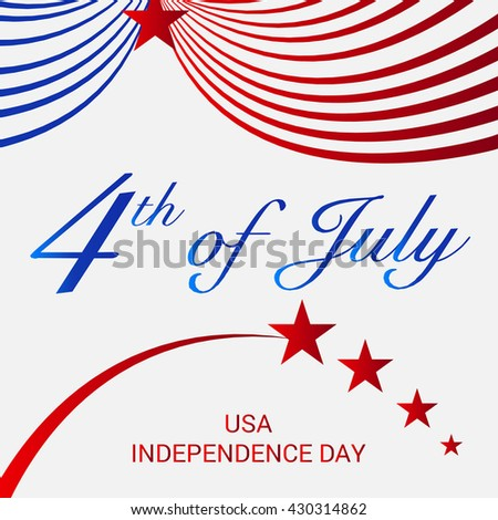 Vector illustration of 4th July USA Independence Day.