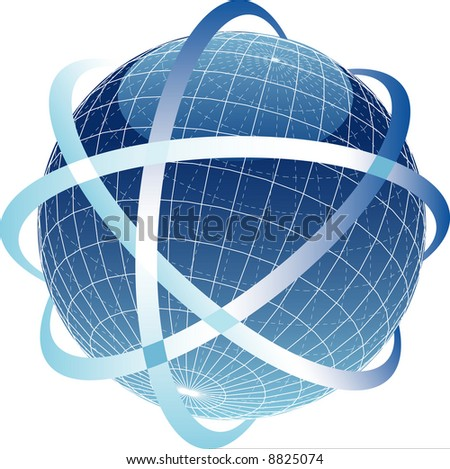 vector illustration of the abstract globe - stock vector