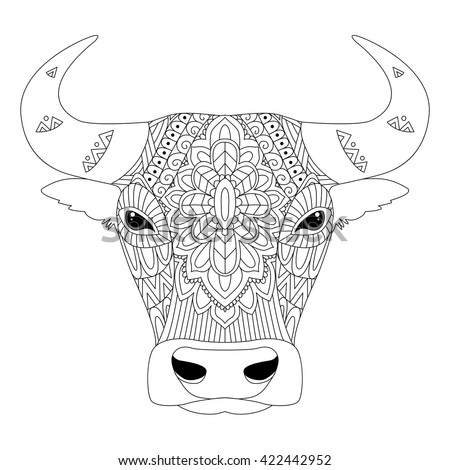 Vector Illustration Of The Bull In Zentangle And Ethnic Style Taurus Zodiac Sign Tattoo