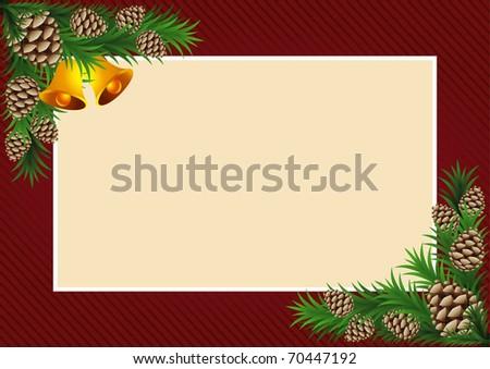 Vector illustration of the Christmas frame - stock vector