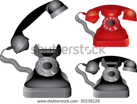 vector illustration of the classic phone