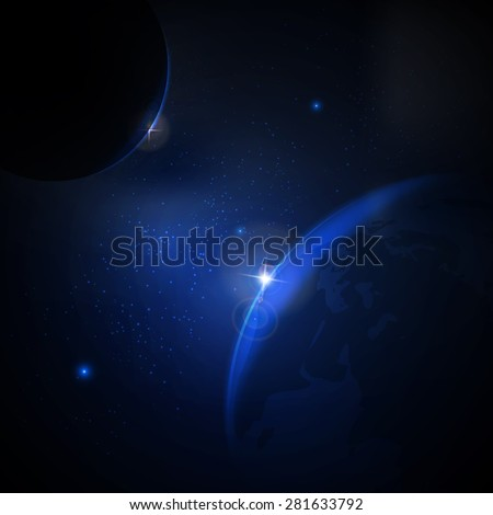 Vector illustration of the concept of space