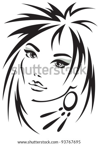 Vector illustration of the female person - stock vector