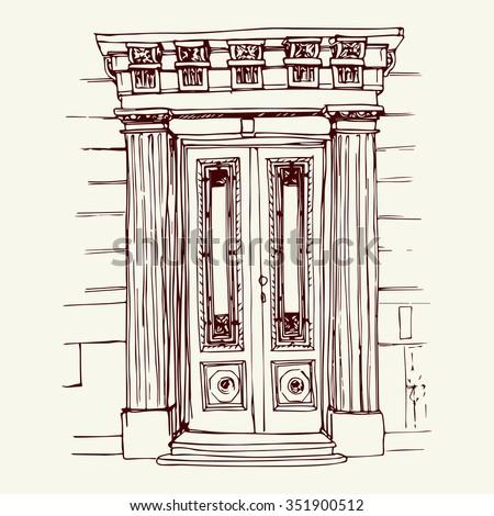 Front Door Drawing door drawing stock images, royalty-free images & vectors