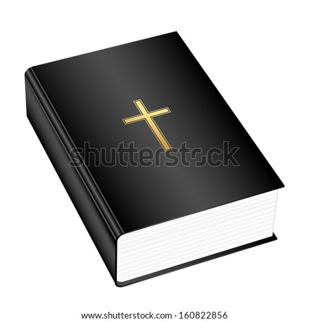 Vector illustration of the Holly Bible - stock vector
