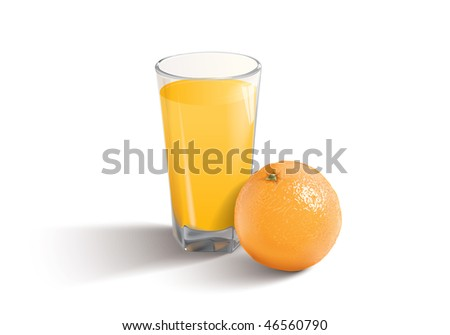 vector illustration of the orange juice - stock vector