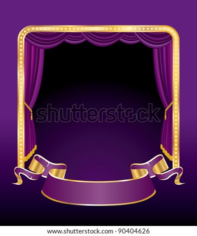 vector illustration of the purple stage - stock vector