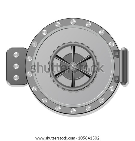 Vector illustration of the safe. eps10 - stock vector