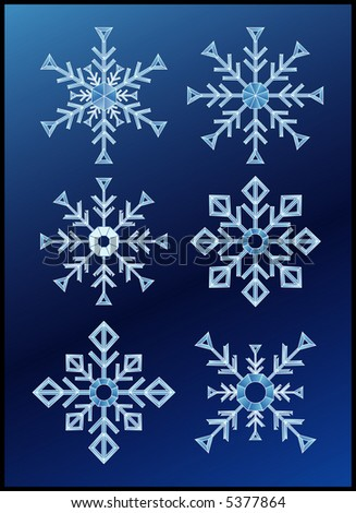 vector illustration of the snow flakes
