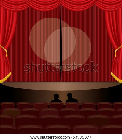 vector illustration of the stage audition - stock vector