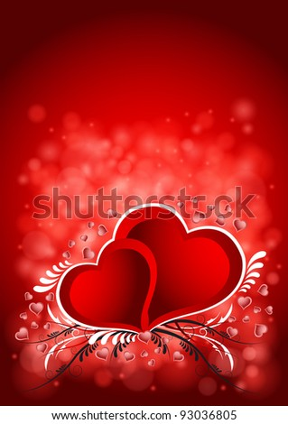 Vector illustration of the Valentine`s Day background - stock vector