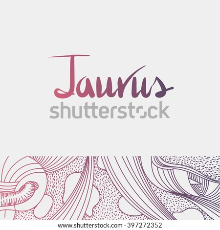 Vector illustration of the zodiac sign Taurus. Graphic image for the horoscope. - stock vector