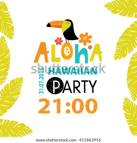 Aloha stock images royalty free images vectors shutterstock vector illustration of toucan flowers and foliage aloha hawaiian party stopboris Gallery