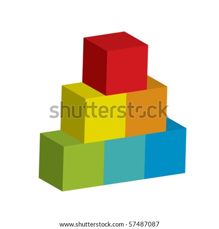 Vector illustration of tower - stock vector