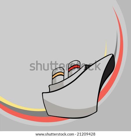 Vector illustration of  Transport Cartoon  . Funny ship - stock vector