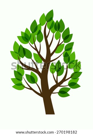 vector illustration of Tree on white background - stock vector