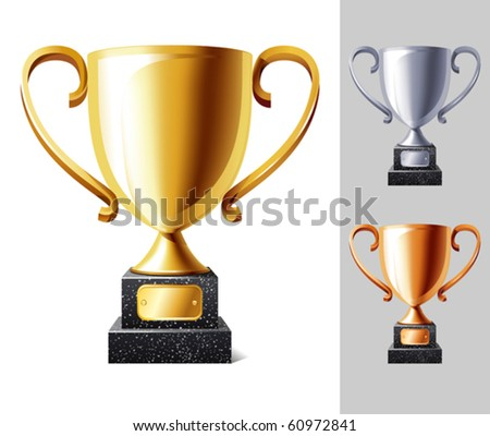 vector illustration of Trophy cup - stock vector