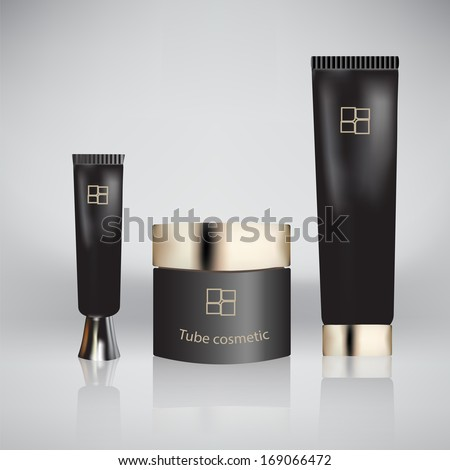 Vector illustration of tube cosmetic. Tube Of Toothpaste, Cream, Gel, Serum or Clean. Product Packing. - stock vector