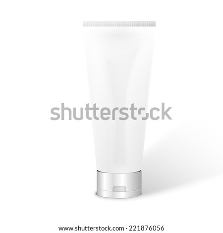 Vector Illustration of Tube for Cosmetic Package - stock vector