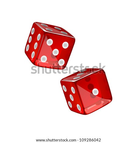 Vector Illustration of two Dices - stock vector