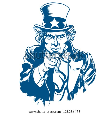 vector illustration uncle sam stock vector 138286478 shutterstock rh shutterstock com 4th of July Clip Art Black and White Memorial Day Clip Art Black and White