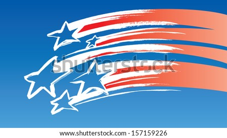 Vector illustration of USA Flag Background. Easy-edit layered vector EPS10 file scalable to any size without quality loss. High resolution raster JPG file is included. - stock vector