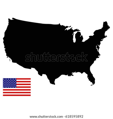 Usa Map Isolated On Transparent Background Stock Vector - Usa map transparent