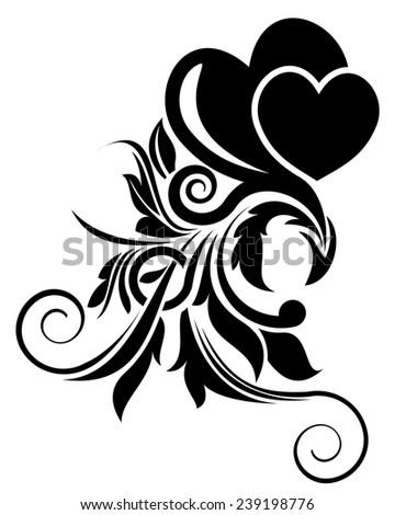 Vector illustration of valentine day floral design element - stock vector