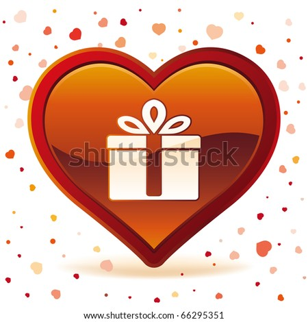 vector illustration of valentine's day gift - stock vector