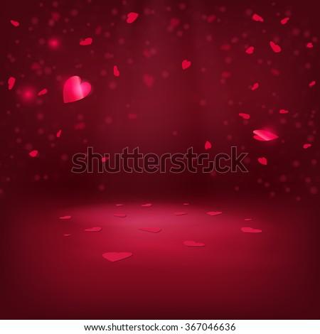 Vector Illustration of Valentine's day Heart for Design, Website, Background, Banner. Pink Symbol of Love Element for wedding Template - stock vector