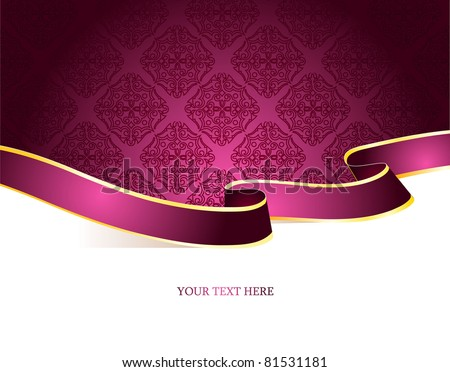 Vector illustration of Vintage background - stock vector