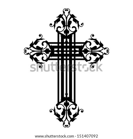 Vector illustration of vintage cross