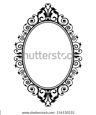 Vector illustration of vintage mirror - stock vector
