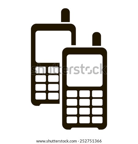 Vector illustration of walkie-talkie icon on white background. - stock vector