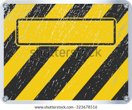 Vector illustration of warning sign.