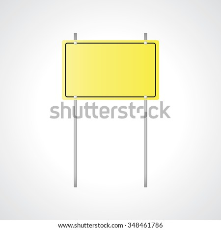 Vector illustration of warning sign, yellow