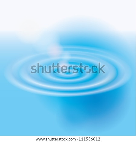 Vector illustration of water splash with bubbles. - stock vector