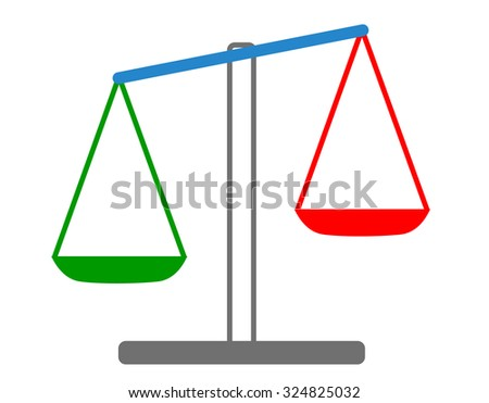 Vector illustration of weights - stock vector
