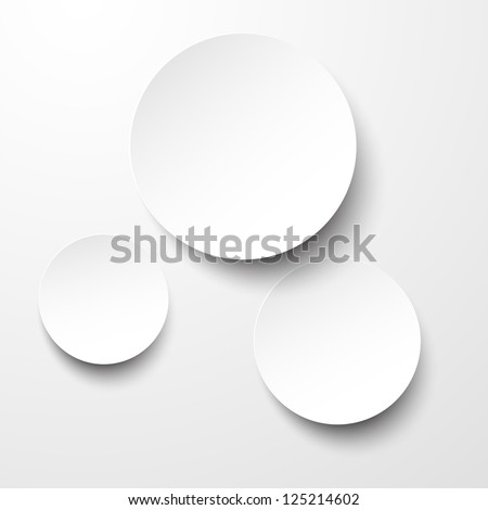 Vector illustration of white paper round notes. Eps10. - stock vector