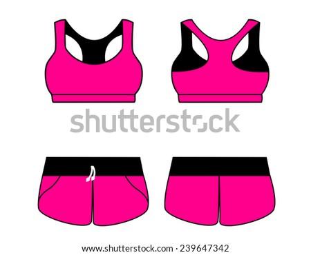 vector illustration womens sport underwear bra stock vector rh shutterstock com